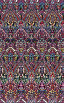 Les-Ottomans Paisley Design Printed Tablecloth