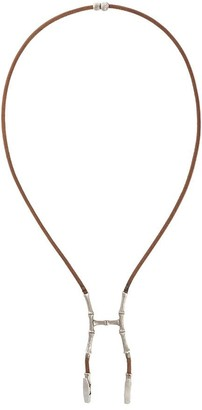 Hermes 2000s Bamboo Bustier Necklace