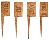 True Fabrications Country Home Wooden Cheese Markers