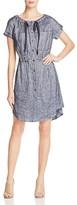 Theory Laela Tie-Neck Chambray Shirt Dress