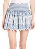 LOVESHACKFANCY Ruffled Floral Skirt