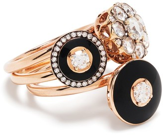 Selim Mouzannar 18kt rose gold Mina & Beirut diamond ring set