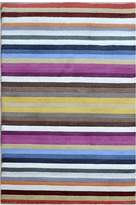 Cornermill Multi-Colour Stripe Modern Rug