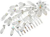 """Rosemarie Collections Women's Bridal Headpiece Tone """"Floral Crystal Hair Comb"""""""