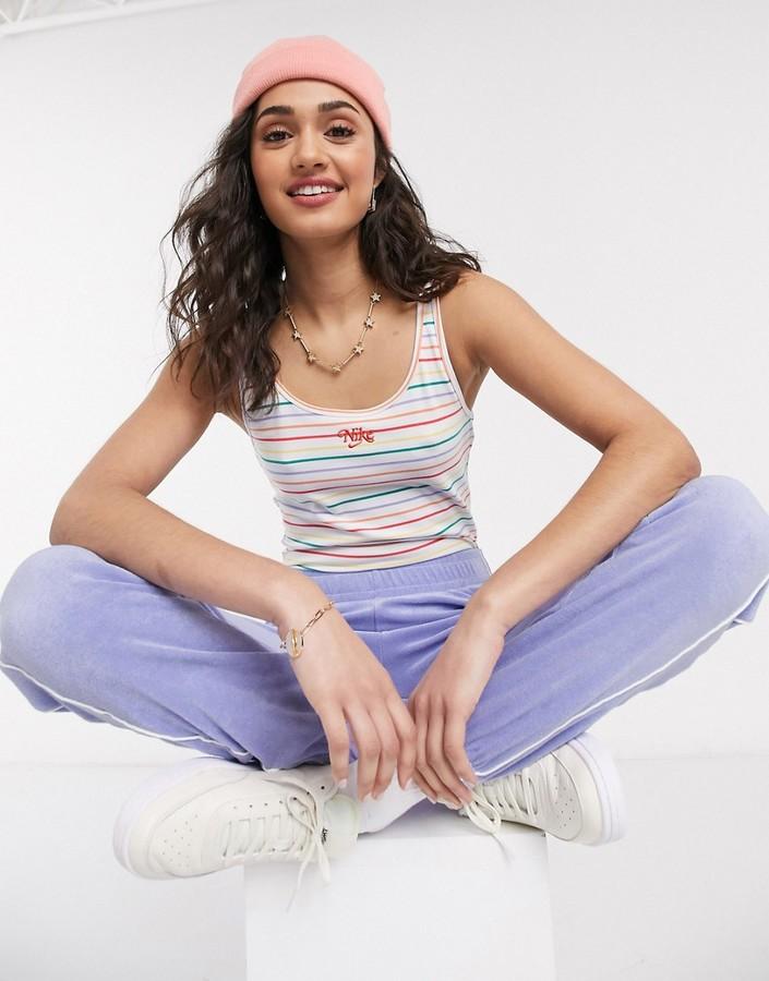 Thumbnail for your product : Nike multi stripe vest bodysuit