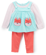 Buster Brown Aruba Blue & Calypso Coral Fox Pockets Top and Leggings - Infant