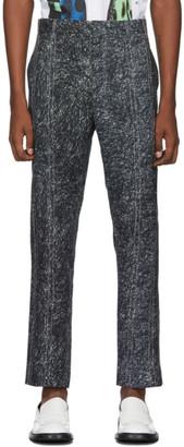 Charles Jeffrey Loverboy Grey Scribble Print Column Trousers