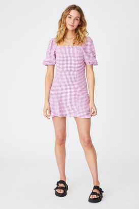 Cotton On Woven Leona Bell Sleeve Mini Dress