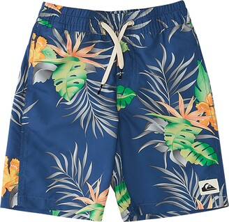 Quiksilver Kids' Paradise Express Volley Swim Trunks