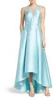 Adrianna Papell Women's Lace And Mikado Gown