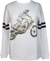 Zoe Karssen biker White Sweatshirt