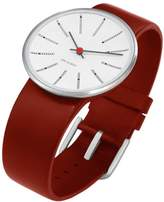 Rosendahl Arne Jacobsen Bankers Unisex Watch 43476 with Red Calf Skin Strap (Large)