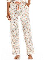 Sleep Sense Striped Fox-Print Sleep Pants