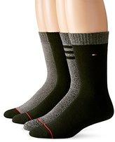 Tommy Hilfiger Men's 4 Pack Triple Stripe Crew Socks