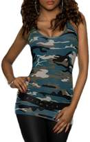 XARAZA Women's Sexy Slim Fit Camouflage Vest Tank Top Cami Shirt (US 6-8, )