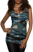XARAZA Women's Sexy Slim Fit Camouflage Vest Tank Top Cami Shirt