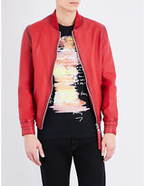 Blood Brother Guard Leather Bomber Jacket