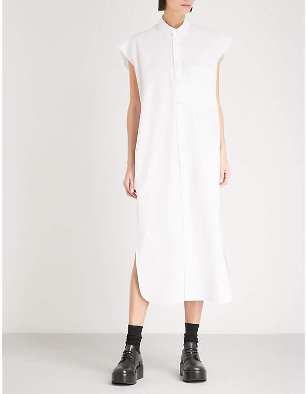 Y's Ys Longline cotton-poplin shirt dress