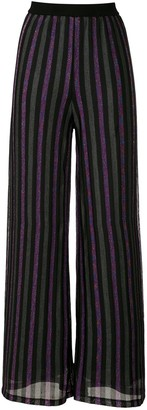 Eva Lurex Striped Wide Trousers
