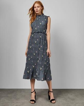 Ted Baker Oracle Sleeveless Pleated Midi Dress