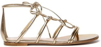 Gianvito Rossi Gold Lamb Leather Gladiator Sandals