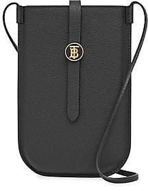 Burberry Women's Anne Leather Crossbody Phone Case
