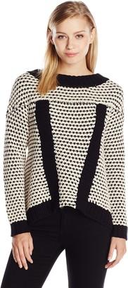 Plenty by Tracy Reese Women's Surplice Back Crew Sweater