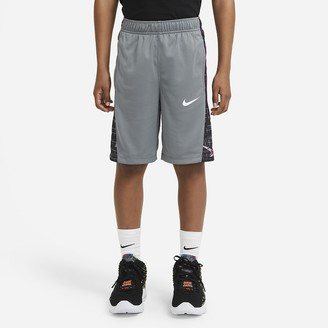 Nike Big Kids' (Boys') Printed Basketball Shorts Avalanche