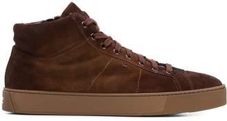 Santoni zip up sneakers