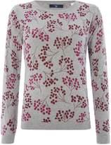 Gant Crew Neck Sweater With Berry Print