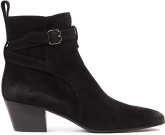 Marc Ellis Black Suede Ankle Boots