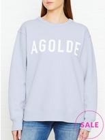 A Gold E AGOLDE Harrow Oversized Crew Neck Sweatshirt