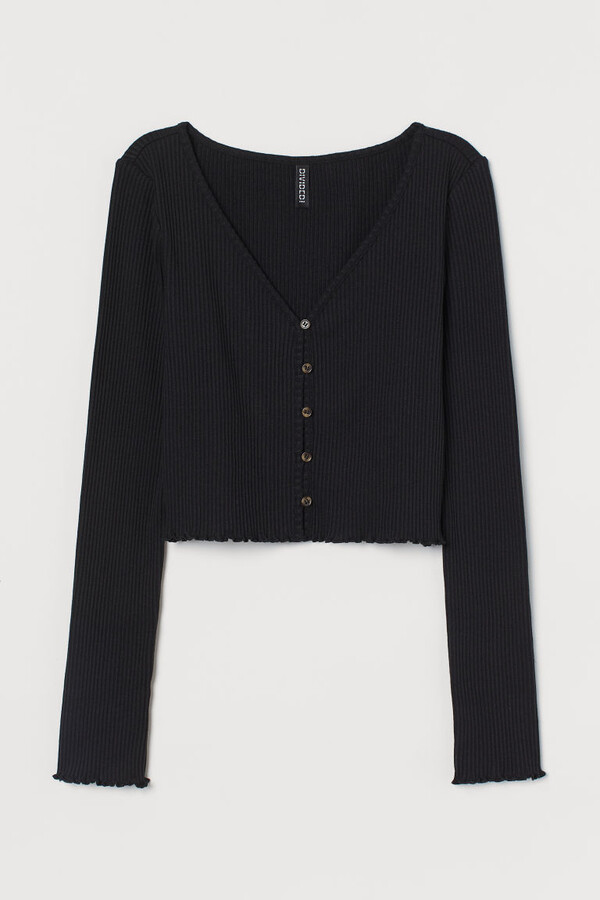 Thumbnail for your product : H&M Ribbed jersey cardigan