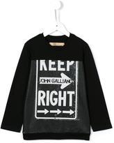 John Galliano keep right print sweatshirt