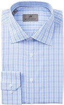 JB Britches Long Sleeve Trim Fit Plaid Dress Shirt