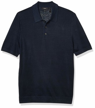 Theory Men's Linen Blend Basic SS Polo R