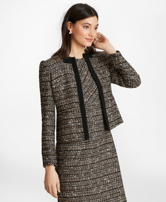 Brooks Brothers Grosgrain-Trimmed Boucle Jacket