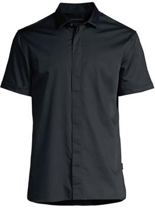 John Varvatos Loren Slim-Fit Short-Sleeve Shirt