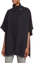 Theory Palomina Plumose Knit Poncho Sweater, Black