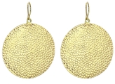 Jennifer Meyer Large Hammered Disc Earrings - Yellow Gold