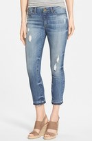 KUT from the Kloth Women's 'Reese' Distressed Stretch Ankle Straight Leg Jeans