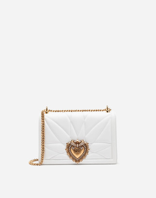Dolce & Gabbana Large Devotion Bag In Quilted Nappa Leather