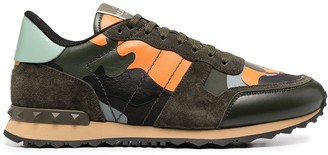 Valentino Camouflage-Print Sneakers
