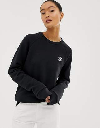 adidas Essential crew neck sweat in black