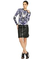 McQ by Alexander McQueen Zipped Lamb Leather Skirt