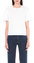 See by Chloe Ruffled cotton-jersey t-shirt