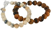 Chan Luu Set of Two Stretch Bracelets in Tigers Eye and Multi Brioche Agate (Tigers Eye Mix) Bracelet