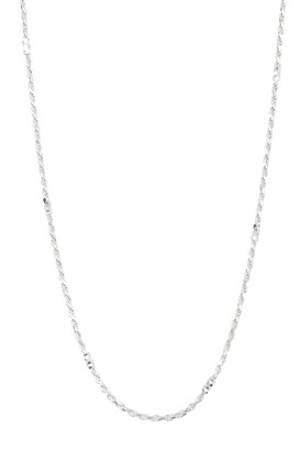 Argentovivo Sterling Silver Long Faceted Bead Rope Chain Necklace