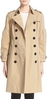 Burberry Women's Redhill Puff Sleeve Cotton Trench