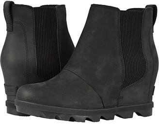 Sorel Joan of Arctic Wedge II Chelsea (Black) Women's Lace-up Boots
